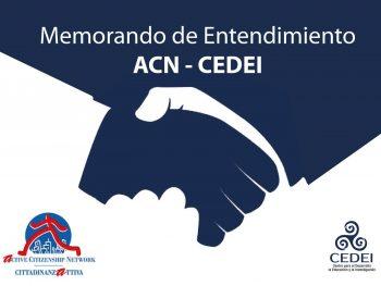 Memorando de Entendimiento ACN-CEDEI